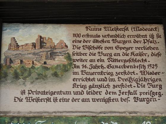 Infotafel in Ramberg